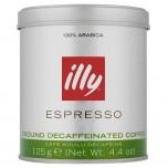 COFFEE ILLY GROUND DECAFFEINATED 125g